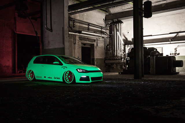 VW Golf VII Light Tron, Glow in the Dark Golf VII