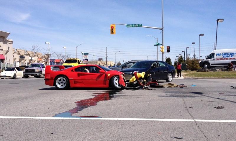 Ferrari F40 Crash