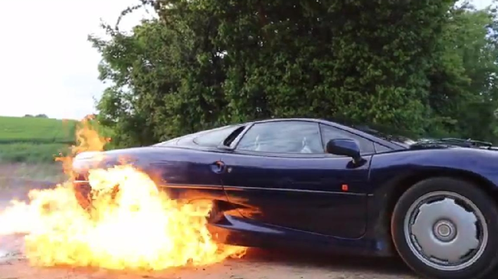 TaxTheRich100 Jaguar XJ220 Fire Burnout