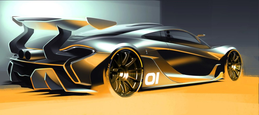 McLaren P1 Design Concept Sketch