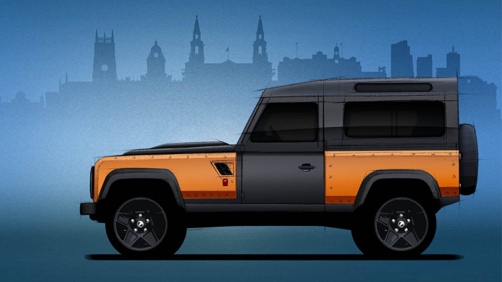 Ant-Kahn Land Rover Defender Flying Huntsman