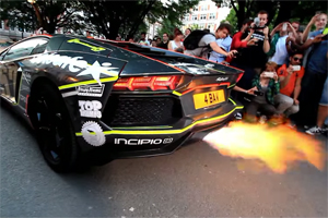 Aventador Exhaust Flames