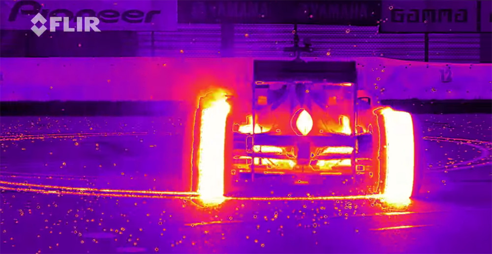 Red Bull F1 Thermal Imaging