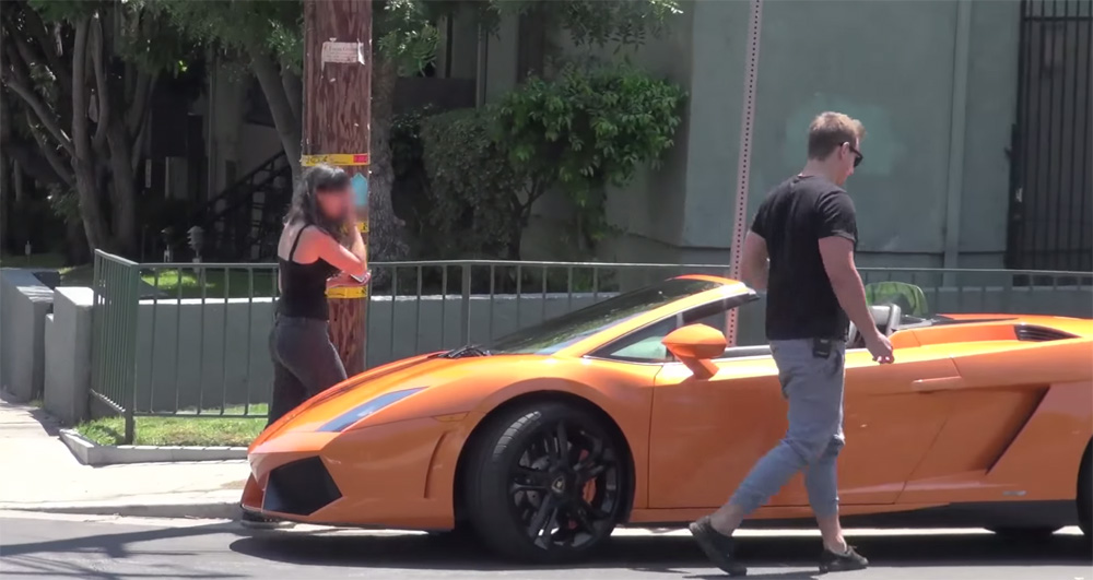 Lamborghini Gold Digger Prank