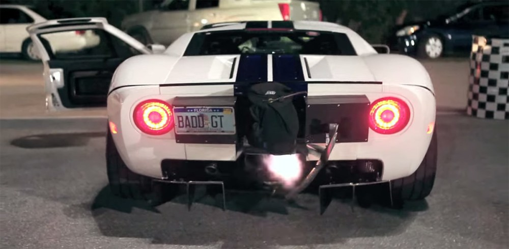 Flame Spitting Ford GT