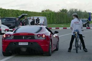 Ferrari F430 Scuderia vs Rocket Bicycle