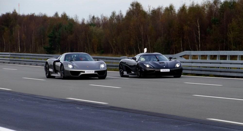 Koenigsegg vs Porsche