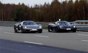Koenigsegg Agera R vs Porsche 918 Spyder Drag Race