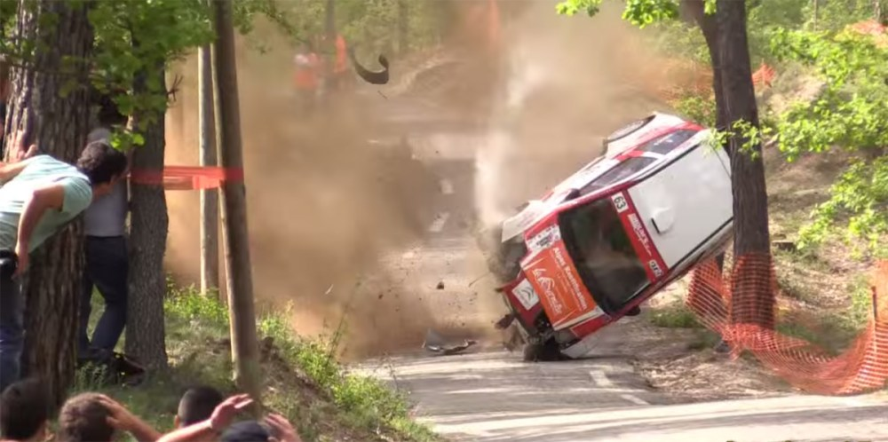horrific rally crash