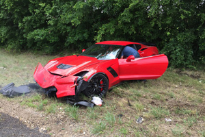 Corvette Z06 Crash