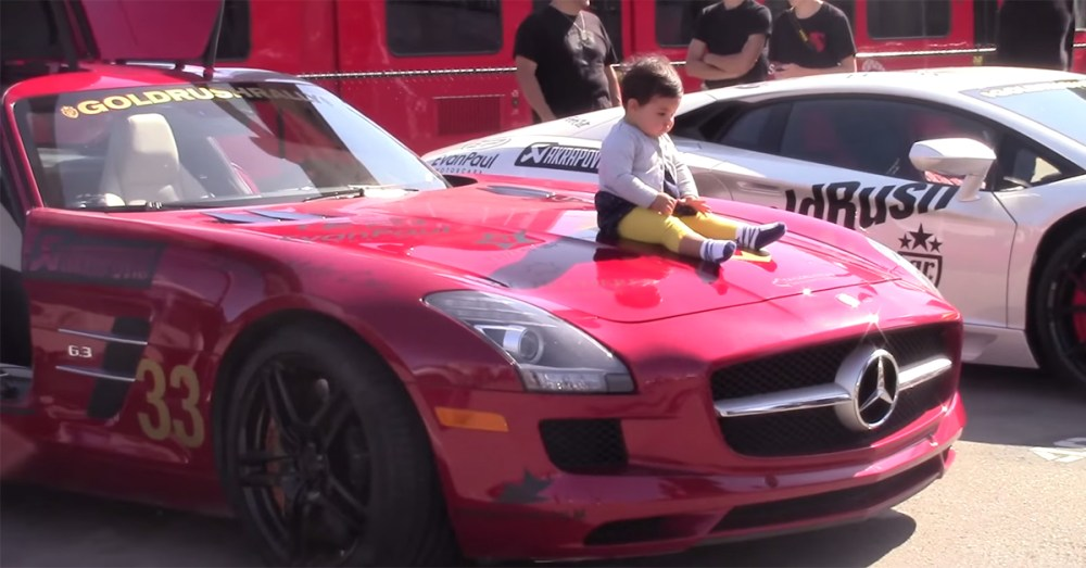 Baby on Supercar
