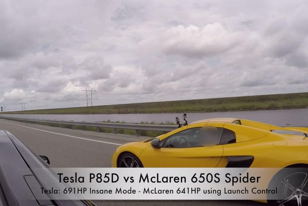McLaren 650S vs Tesla Model S P85D