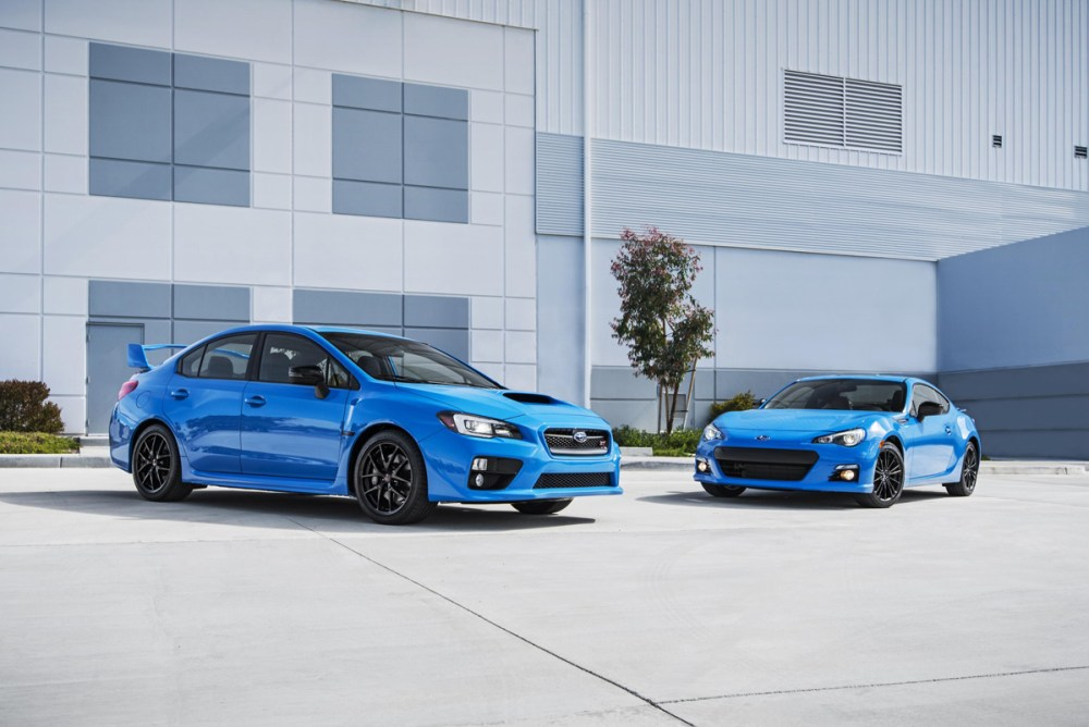 Subaru Series.HyperBlue WRX STI and BRZ
