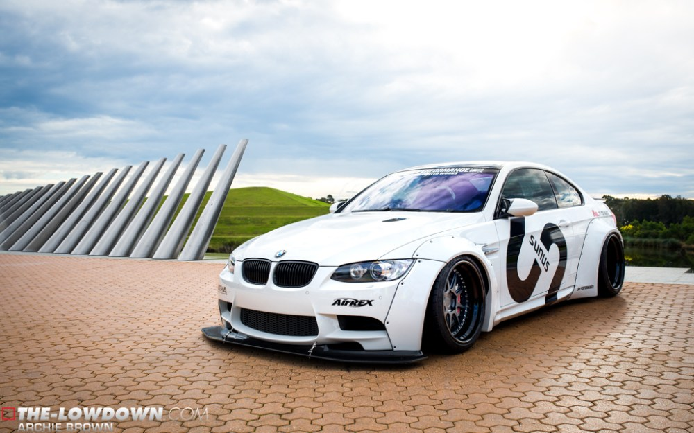Liberty Walk E92 BMW M3 PUR LG08 Wheels by Sunus Motorsports