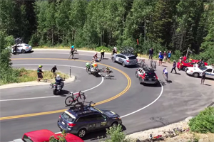 Friday FAIL Cyclist Panamera Crash