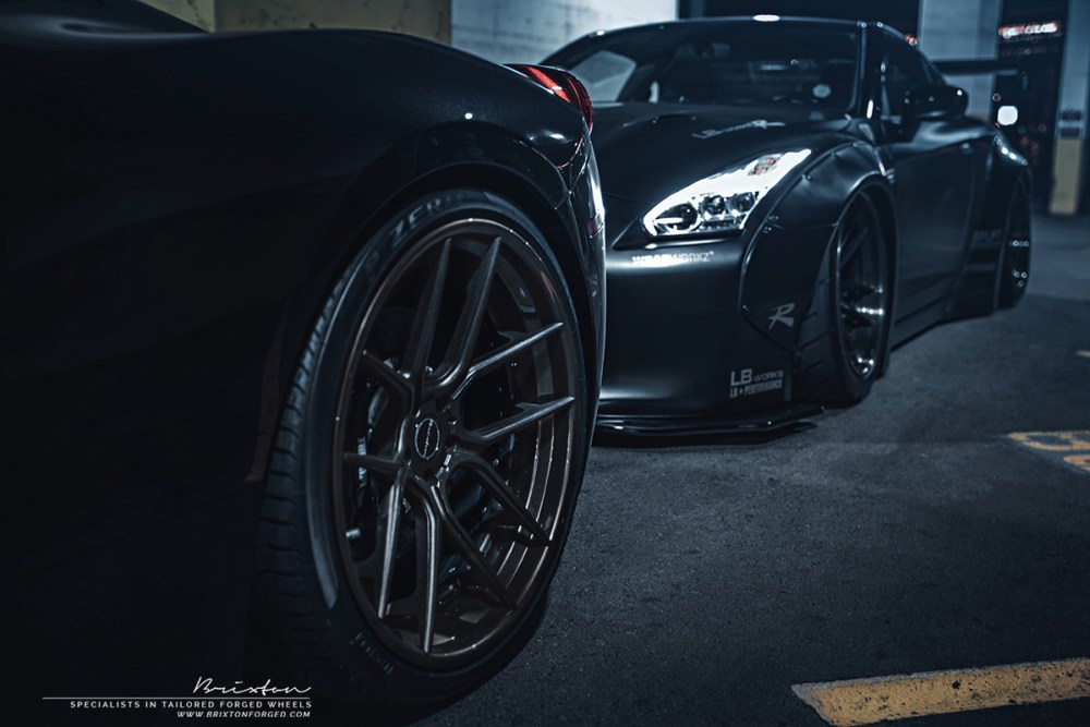 Brixton Forged Friday Night Lights GT-R and 458 Italia (