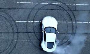 Aston Martin DB10 burnout