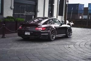 997.2 Porsche 911 Turbo with Brixton Forged CM5 Targa Series Wheels by ReinART Design
