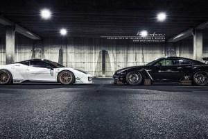 Liberty Walk GTR on Brixton Forged R25 Monaco Series forged wheels