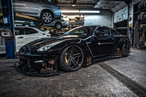 Liberty Walk GTR on Brixton Forged R25 Monaco Series forged wheels