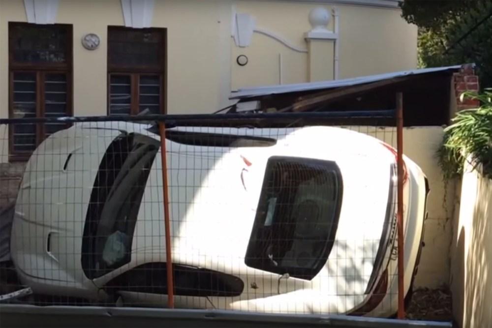 Maserati GranTurismo Crash Parking lot UCT