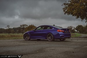 Interlagos Blue BMW M4 with Vorsteiner V-FF 103 Flow Forged Wheels
