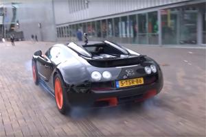 Bugatti Veyron Grand Sport Vitesse WRC Burnout