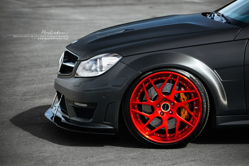 Sonic Motorsport Supercharged Mercedes Benz C63 AMG Edition 507 with Brixton Forged CM7 Tartga Series Wheels