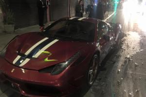 Steve Goldfield's Crashed Ferrari 458 Speciale