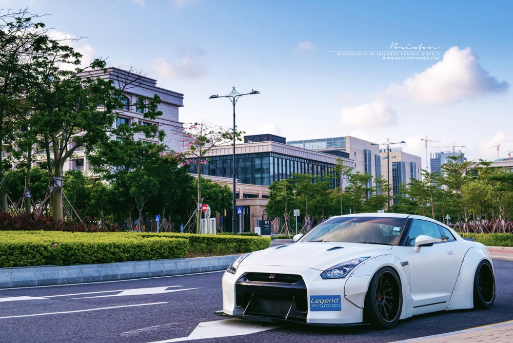 Liberty Walk Nissan GT-R with Brixton Forged R10D Monaco Series Wheels by ReinART Design