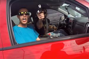Friday FAIL Road Rage Gun