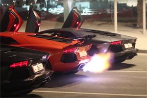 Lamborghini Aventador Flame War