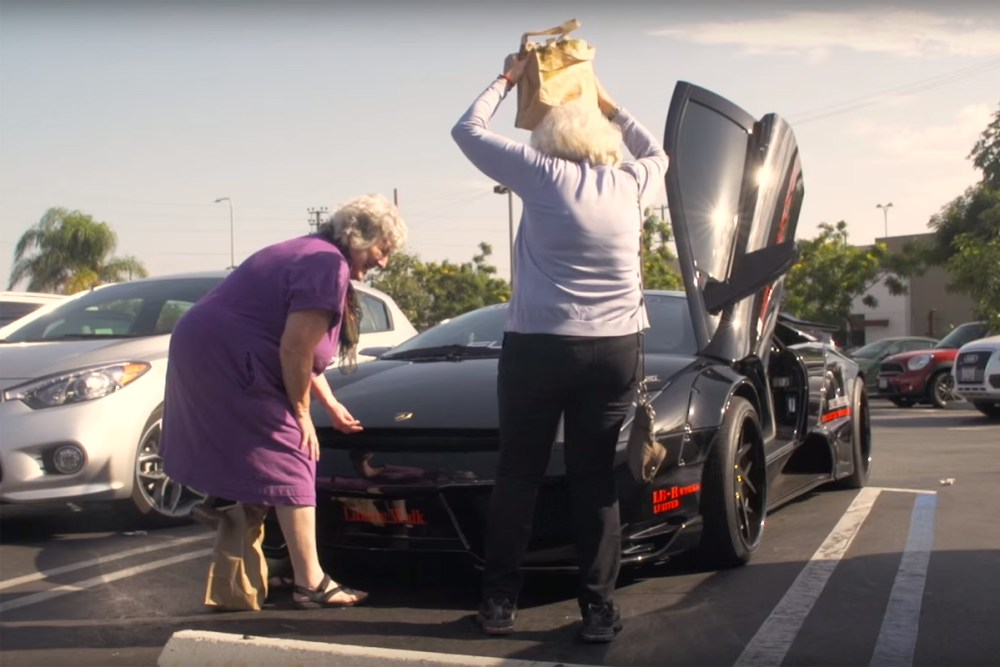 Grandmas drive Lamborghini Murciélago