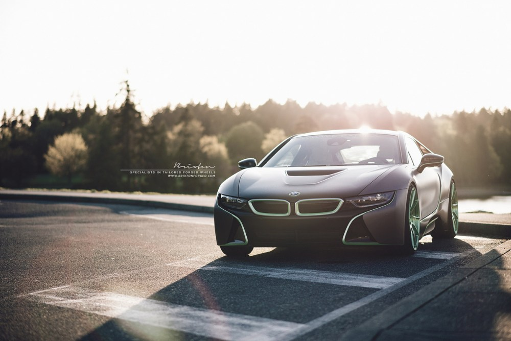 BMW i8 with Brixton Forged R10D Duo Series wheels