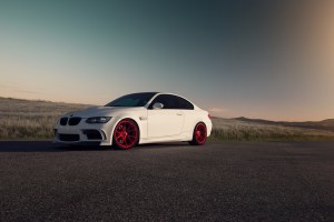 E92 BMW M3 with Vorsteiner V-FF 103 Wheels in Candy Apple Red
