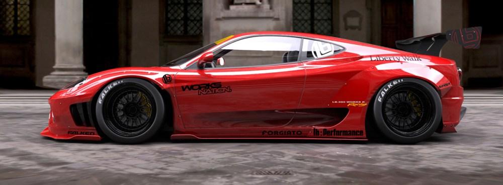 Liberty Walk Ferrari 360 and F430 Widebody Kit
