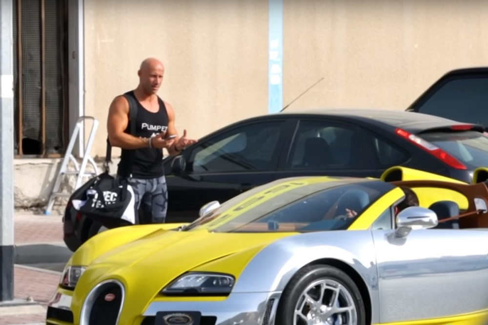 Bugatti Veyron Grand Sport Vitesse Meo Costantin Uber Prank