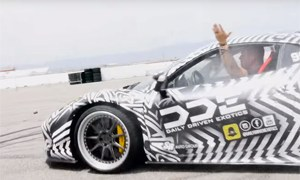 GoldRush Rally Zebra Ferrari 458 Italia Burnouts