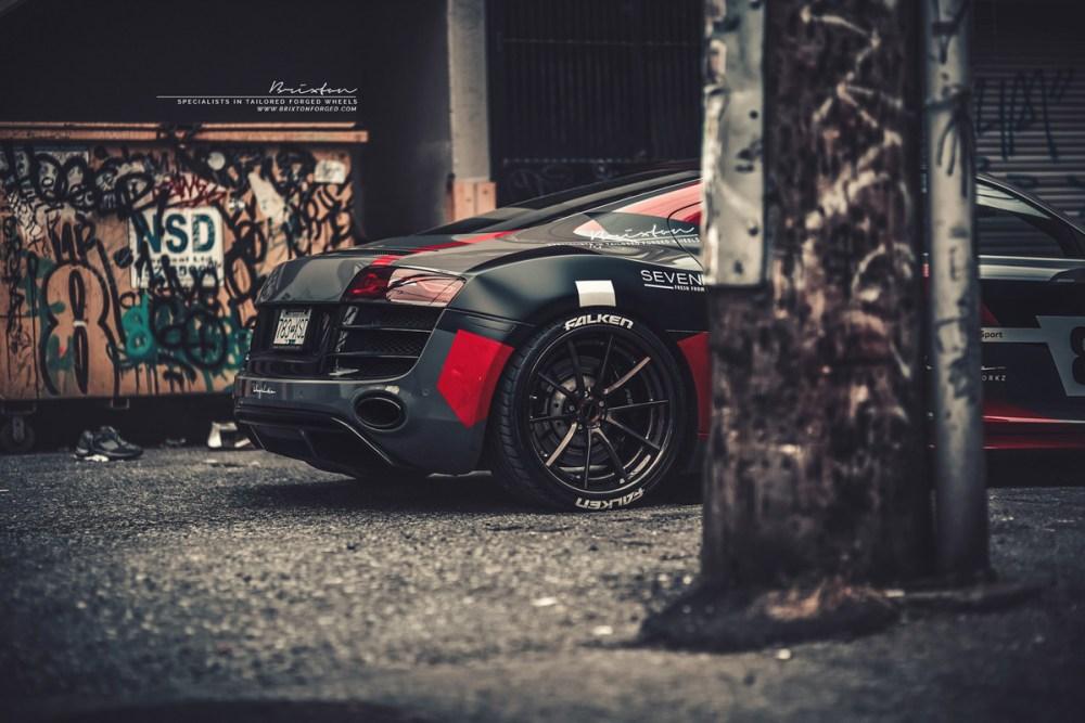 Audi R8 V10 with Brixton Forged WR3 Targa Series Wheels