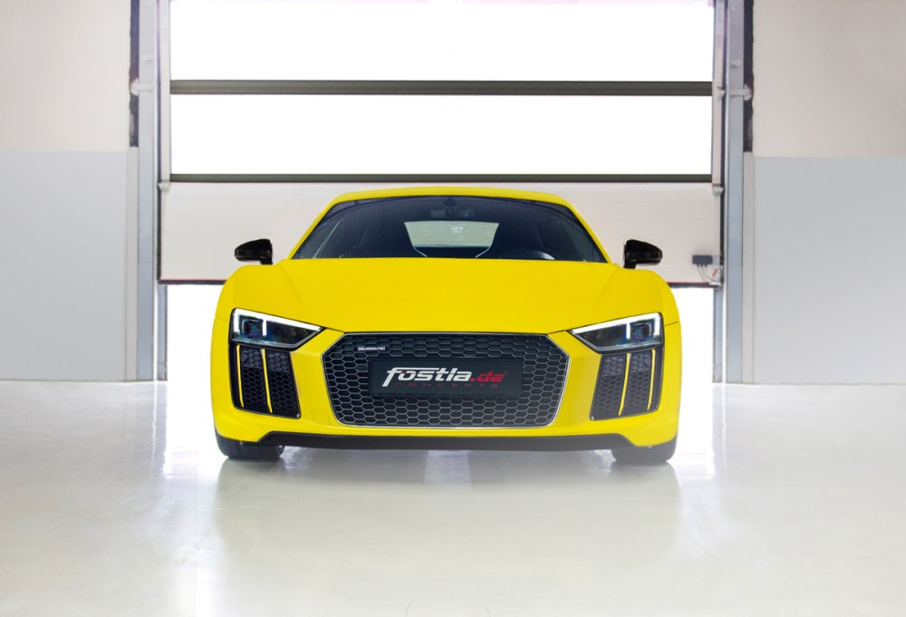 Sunflower Matte Metallic Fostla Audi R8 V10 Plus