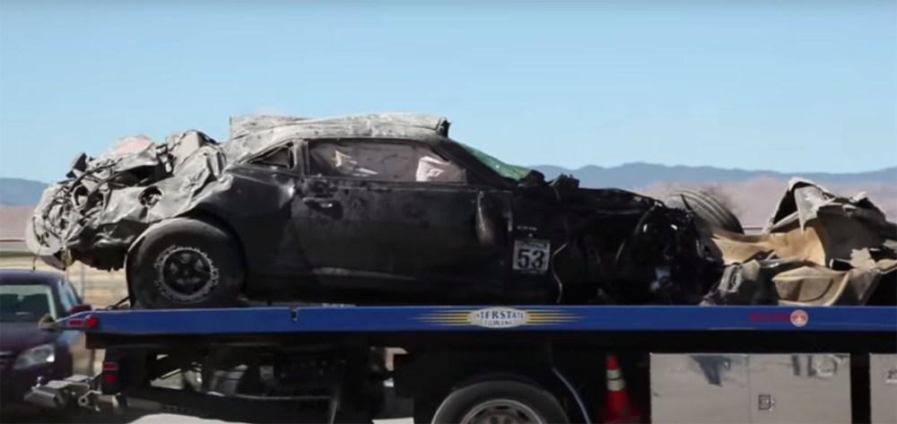 200 mph chevrolet camaro crash