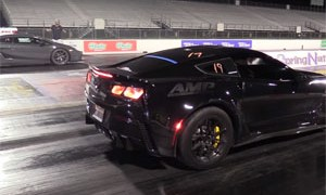 Underground Racing Twin Turbo Lamborghini Gallardo vs Corvette Z06
