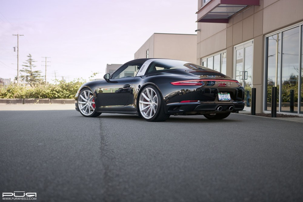 991.2 Porsche 911 Targa 4S with PUR RS08 forged wheels by SR Auto Group