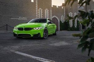 Java Green F82 BMW M4 with Brixton Forged WR5 Targa Series Wheels