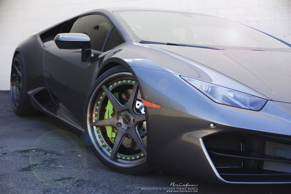 Lamborghini Huracan with Brixton Forged S60 Targa Series wheels