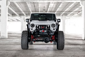 Starwood Motors Jeep Wrangler with Center Line RT1X Wheels