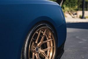 Matte Blue Nissan GT-R with Brixton Forged WR5 Targa Series Wheels