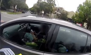 Texting Driver Caught by Police Officer