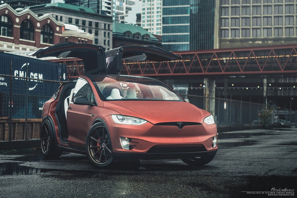 Tesla Model X with Brixton Forged WR3 Targa Series Wheels