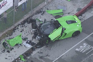 McLaren Street Racing Crash LA